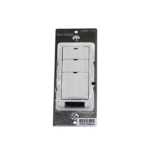 Wattstopper Lmsw103W Digital Switch, 3-Button, Infrared, White