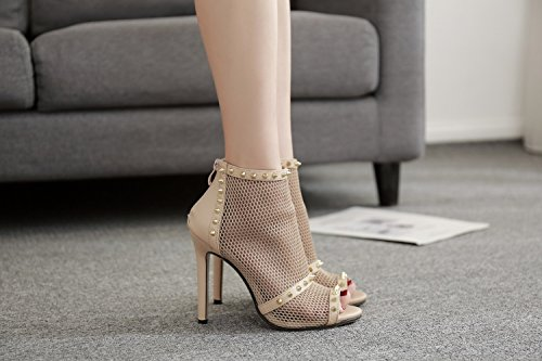 B Wedding Party Stiletto Heel Fall ShoesTulle for Summer amp; Rivets Evening Shoes Shoes Sexy Heels Women's Club aAfUwUq