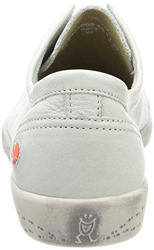 Softinos Damen Ini453sof Smooth Slipper Weiß (White)