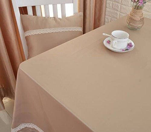 WFLJL Tischdecke japanischen Stil Farbe Wohnzimmer Restaurant Esstisch Wohnzimmer Farbe Couchtisch Khaki 140  200cm 30112e