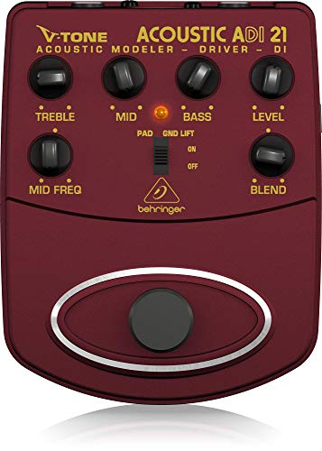 Behringer V-Tone Acoustic Driver DI ADI21 Amp Modeler/Direct Recording Preamp/DI - Driver Effects Pedal