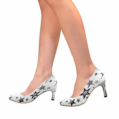 Le Scarpe Disegnate A Mano Della Pompa Del Vestito Dellalto Tallone Di Modo Classico Delle Donne Di Interestprint, Illustrazione Di Astrazione