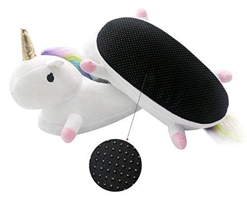 Adulte Unicorn Chaussons Maison Hiver Chaussures Peluche EU Violet 40 35 Blanc Pantoufle Blanc de Licorne Rose Taille xXxq8rU5