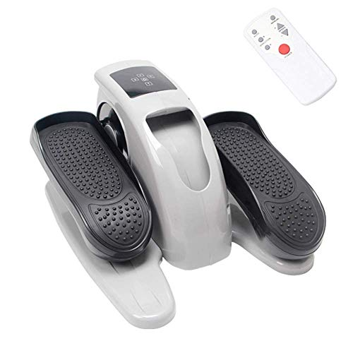 Automatic Stepper Home Gym Grey Under Desk Table Trainer Aerobic Legs Thighs Sitting Workout Exercise Small Training Step Machine Foot Pedal Stair Climber Fat Burning Sports Equipment