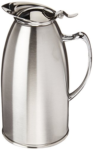 Winco VSS-508 Stainless Steel Lined Beverage Server, 20-Ounce, Satin Finished
