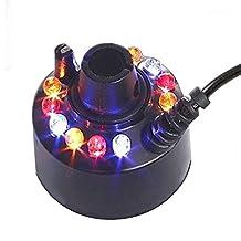 24V Ultrasonic Mist Maker Fogger 12 LED Colorful Light Water Misting Atomizer Fountain Pond (mist maker)