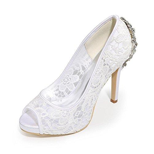 Color Altos Boda Silver Zapatos Peep Las Toe Tacones L De yc Sandalias Mujeres Vestido Multi TSyC7qxgFw