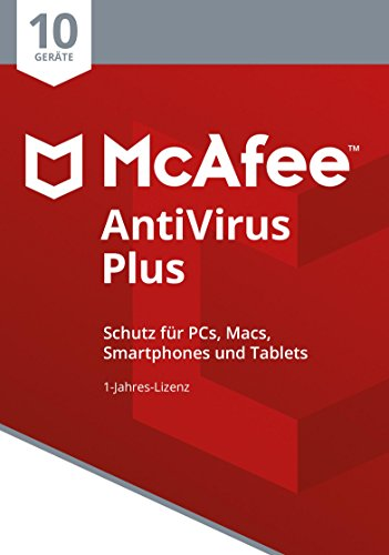 Price comparison product image McAfee AntiVirus Plus 10 Device (Code in a Box). Für Windows Vista / 7 / 8 / 8.1 / 10 / MAC / Android / iOs