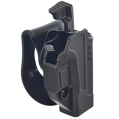 Glock 27 Paddle Holster (Orpaz Glock Thumb Release Holster Polymer Rotation Paddle with Tension Adjustment)