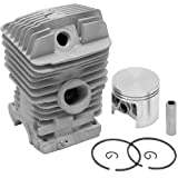 LASER Chaisnaw Cylinder Assembly Kit Fits STIHL 025 & MS250, 42.5mm - Includes Cylinder, Piston, Rings, Wrist Pins & E-Clips