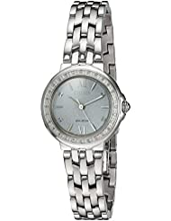 Citizen Womens Diamond Quartz Stainless Steel Casual Watch, Color:Silver-Toned (Model: EM0440-57A)