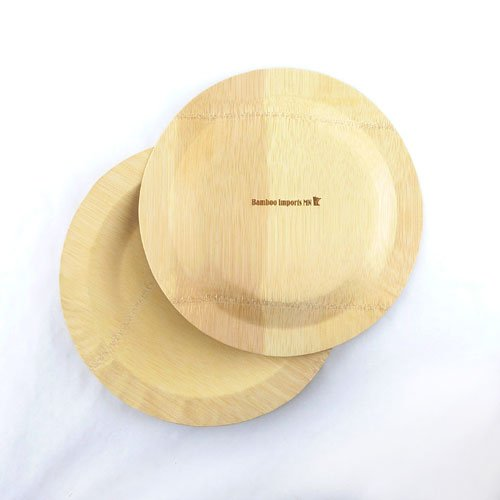 BambooMN Brand - 11'' (28cm) Round Disposable Bamboo Veneer Plates, 24pcs by BambooMN (Image #3)