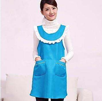 Modelos femeninos japoneses kawaii lindo delantales de tela vestido de la correa H uniforme vida en