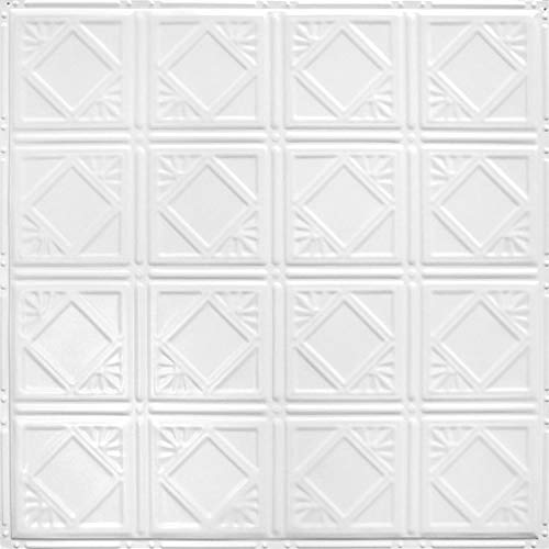 """American Tin Ceilings Nail Up Kit, Pattern #19, 5 Pack (24"""" x 24"""", Bright White Satin)"""