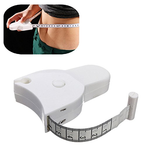 Accurate Fitness Body Tape Measuring Waist Retractable Ruler Measure 150cm by TubeTz by TubeTz
