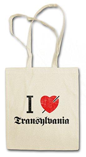 I LOVE TRANSYLVANIA Shopper Shopping Cotton Bag