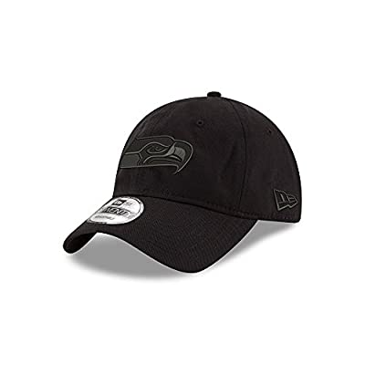 Seattle Seahawks Black on Black 9TWENTY Adjustable Hat / Cap by New Era