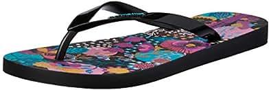 IPANEMA Women's BOTANICS Slippers, Black, 10 US