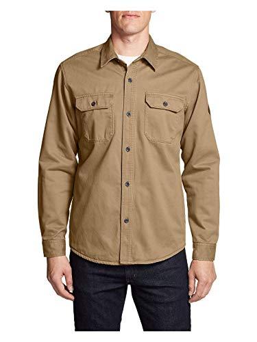 Eddie Bauer Men's Legend Wash Flannel-Lined Shirt Jacket, Aged Brass Regular XXL