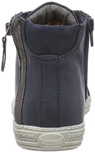 Dockers 32LN213 - zapatillas deportivas altas de material sintético mujer azul - Blau (blau 600)