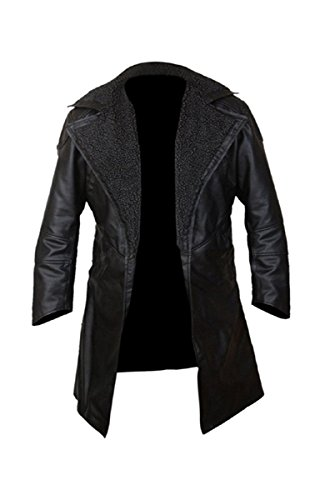 31c70a1be7d Related Product: Ryan Gosling Blade Runner 2049 Officer K Black Real Leather  Coat ...