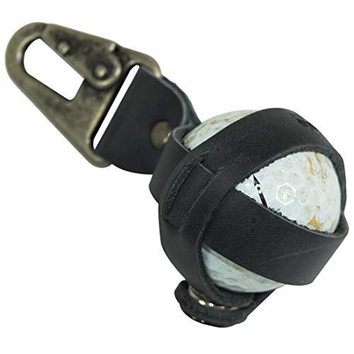Hide & Drink, Rustic Leather Golf Tee Spare Ball Holder w/Belt Loop Hook Handmade Includes 101 Year Warranty :: Charcoal Black - Leather Golf Ball Holder