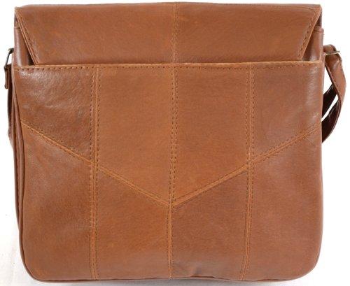 Super suave de piel de napa para bolsa Bolso bandolera de hombro (negro, marrón oscuro, marrón claro Marrón - Marron - Brun