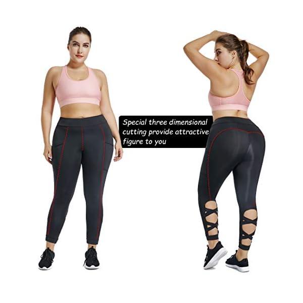 a474f452d786d Joyshaper Cutout Leggings with Pockets for Women High Waist Capri Yoga  Pants Workout Running Tights Gym Trousers