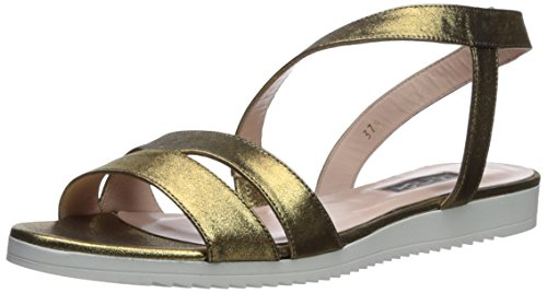 - SJP by Sarah Jessica Parker Women's Supernova Flat Sandal, Karat Leather, 37.5 B EU (7 US)