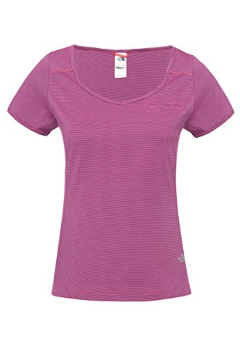 The North Face Leven Tee Women pink gestreift