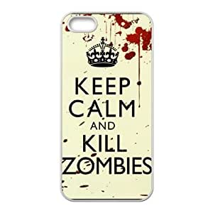 Keep Calm Kill Zombies iPhone 5 5s Cell Phone Case White Tjyyl