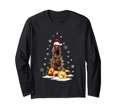 - Irish Setter Christmas Long Sleeve T-Shirt Dog