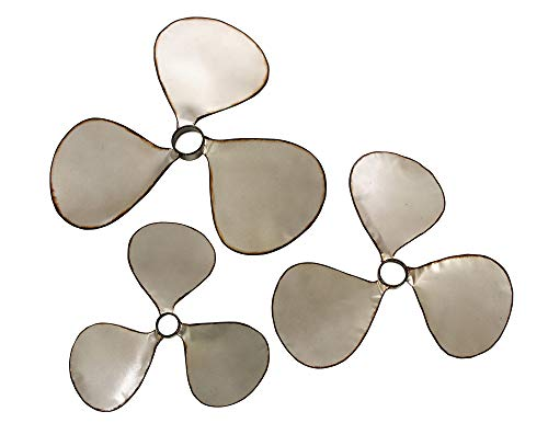 (IMAX 47253-3 Pelham Propeller Wall Decor, Set of 3)