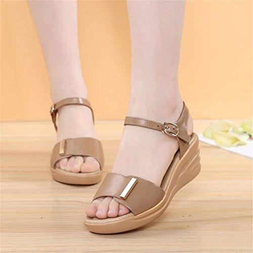 Mamá Sandalias Con Zapatos De Mujer Al Final De La No-Slip Sandalias De Mujer Brown