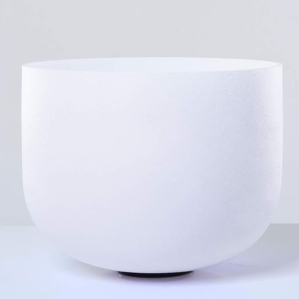 432HZ 7 Note G Throat Chakra Frosted Quartz Crystal Singing Bowl