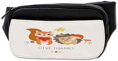 Retro Hedgehog Sport Waist Bag Fanny Pack Adjustable For Hike