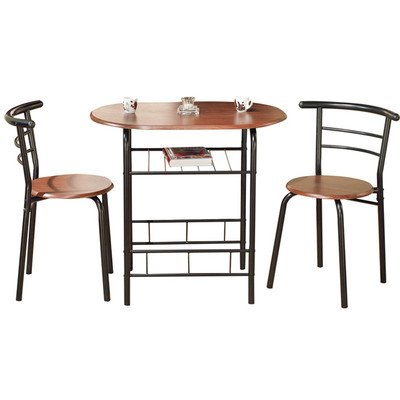 Oval Bistro 3 Piece Compact Dining Set ( Pack of 3 )