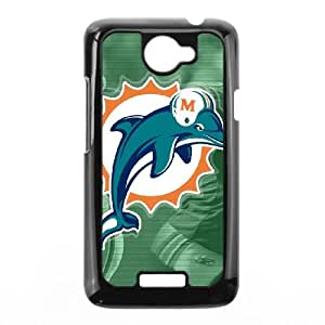 Miami Dolphins HTC One X Cell Phone Case Black persent zhm004_8469755