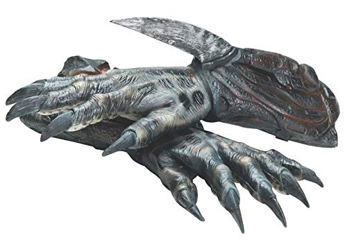 Rubie's Alien Vs Predator: Black Predator Deluxe Adult Latex Hands, As Shown, One Size