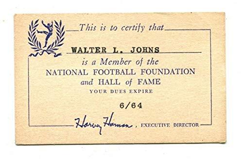 1963 National Football Foundation and Hall Of Fame Membership Card - 1963 Football Hall Of Fame