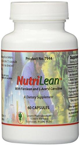 NUTRILEAN ™ with Coleus forskohlii (forskolin) & Acetyl L-carnitine [60 CAPSULES] - Pharmaceutical Grade by Legere