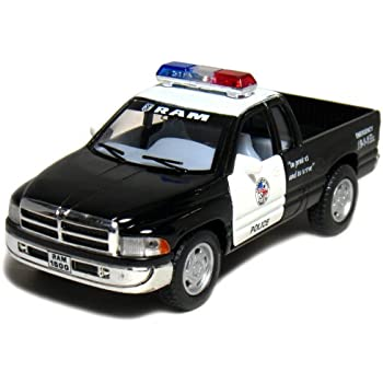Amazon 5 dodge ram police pickup truck 144 scale black 5 dodge ram police pickup truck 144 scale blackwhite sciox Images