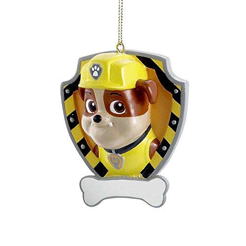 Kurt Adler Personalizable Ornament (Rubble Yellow Shield)