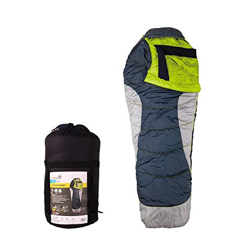 - AceCamp Terrain Mummy Sleeping Bag, Warm & Cold Weather Winter Sleeping Bags, 0, 20 & 45 Degree Bags for Camping, Backpacking, Hunting, Hiking, with Compression Sack (Blue / 0 Degree)