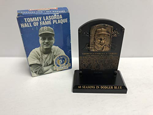Hall Of Fame Plaque - Tommy Lasorda Limited Edition Hall of Fame Plaque Los Angeles Dodgers 60 seasons in dodger blue