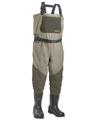 Orvis encounter bootfoot waders felt 2xl boot size 13 for Fishing waders amazon