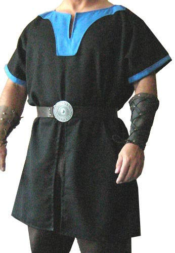 Amazon com: QUALITYMUSICSHOP Medieval Black Tunic Surcoat