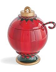 Be Merry Snack Bowl Stand | Opvouwbare Kom Kerst Snack Serveerstandaard | Giant Ornament Punch Bowl voor het serveren van snacks, fruitborden en kerstversiering (Bowl Stand- C)