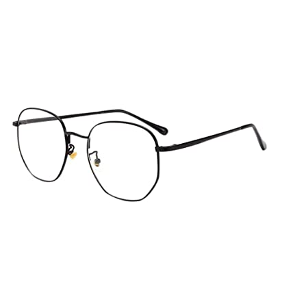 6f19a18d887 Amazon.com  Fosheng Metal Frame Eyewear - Blue Light Filter Anti Fatigue  Glasses Computer Phones Readers Eyeglasses Retro Style Men Women Goggle  (Black)  ...
