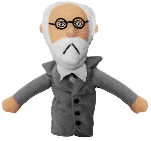 Sigmund Freud Finger Puppet and Refrigerator Magnet]()
